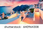 impressive evening view of... | Shutterstock . vector #640964308
