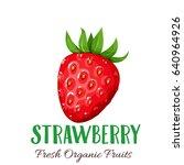 vector strawberries. fruit... | Shutterstock .eps vector #640964926