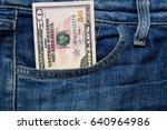 Fifty American Dollars Bill In...