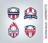 vector design set of baseball... | Shutterstock .eps vector #640980772