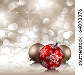christmas background with... | Shutterstock .eps vector #64098376