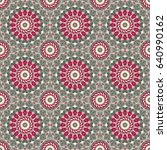 vector seamless pattern.... | Shutterstock .eps vector #640990162