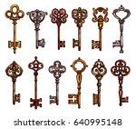 Key And Vintage Skeleton Key...