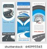 road highway banner template... | Shutterstock .eps vector #640995565