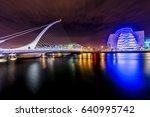 samuel beckett bridge  harp...   Shutterstock . vector #640995742