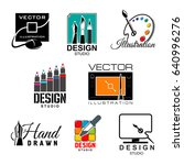 graphic and web design studio... | Shutterstock .eps vector #640996276