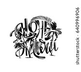 aloha hawaiian handmade... | Shutterstock .eps vector #640996906