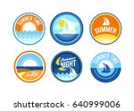 vector summer time emblems for... | Shutterstock .eps vector #640999006