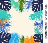 summer plants poster background | Shutterstock .eps vector #641004436