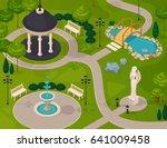 park landscape isometric design ... | Shutterstock .eps vector #641009458