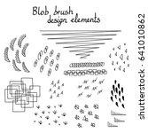 blob brush hand drawn design... | Shutterstock .eps vector #641010862