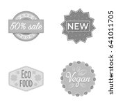 percentage sale  new  eco food  ... | Shutterstock .eps vector #641011705