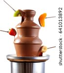 chocolate fondue fountain with... | Shutterstock . vector #641013892