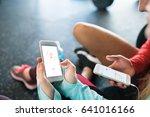 unrecognizable fit couple in... | Shutterstock . vector #641016166