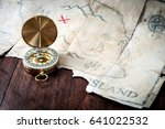 Nautical Compass In Front Of...