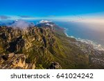 top view of the atlantic ocean. ... | Shutterstock . vector #641024242