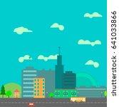 city | Shutterstock .eps vector #641033866