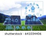 solar energy industry 4.0... | Shutterstock . vector #641034406