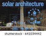 solar energy industry 4.0... | Shutterstock . vector #641034442