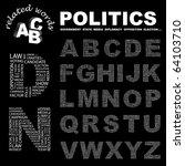 politics. vector letter... | Shutterstock .eps vector #64103710