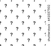 question mark seamless pattern  ... | Shutterstock .eps vector #641037502