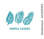 hand drawn leaves set in... | Shutterstock .eps vector #641039392