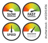 round speedometers set with... | Shutterstock .eps vector #641041456