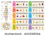 mineral vitamin food icons... | Shutterstock .eps vector #641048566