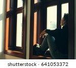 portrait of beautiful real... | Shutterstock . vector #641053372