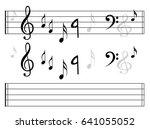 music note background | Shutterstock .eps vector #641055052