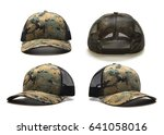 digital camouflage cap isolated ... | Shutterstock . vector #641058016
