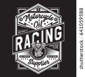 motorcycle racing typography ...   Shutterstock .eps vector #641059588