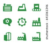 factory icons set. set of 9... | Shutterstock .eps vector #641061346