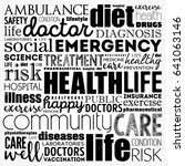 health word cloud collage ... | Shutterstock .eps vector #641063146