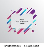 vector background with paper... | Shutterstock .eps vector #641064355