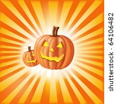 halloween illustration with... | Shutterstock .eps vector #64106482