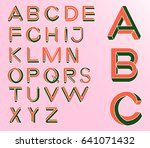 impossible geometry letters.... | Shutterstock .eps vector #641071432