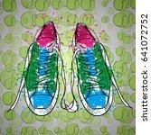 vector illustration of drawing... | Shutterstock .eps vector #641072752