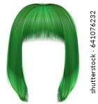 trendy hairs green colors .... | Shutterstock .eps vector #641076232