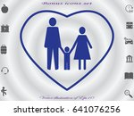family  people  icon vector... | Shutterstock .eps vector #641076256