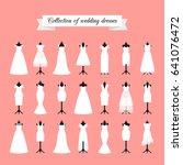 wedding dresses. fashion bride... | Shutterstock . vector #641076472
