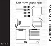 vector set of elements for... | Shutterstock .eps vector #641079502