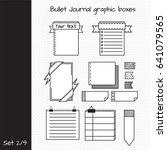 vector set of elements for... | Shutterstock .eps vector #641079565