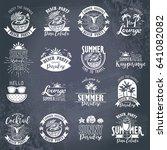 summer typography design... | Shutterstock .eps vector #641082082