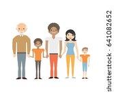 family elder son couple | Shutterstock .eps vector #641082652