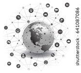 internet technology global... | Shutterstock .eps vector #641087086