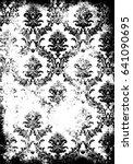 vintage damask pattern...   Shutterstock . vector #641090695