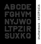 vector linear font. alphabet... | Shutterstock .eps vector #641091616