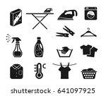 laundry icon set vector | Shutterstock .eps vector #641097925