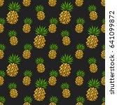 pineapple on white background.... | Shutterstock .eps vector #641099872